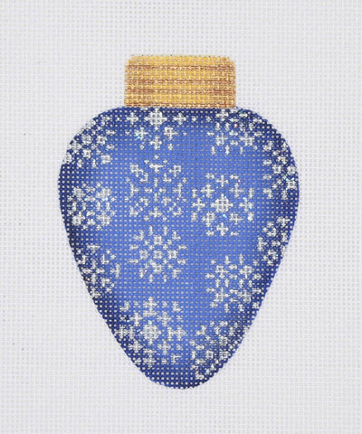 Christmas Light / Royal Blue / Silver Snowflakes