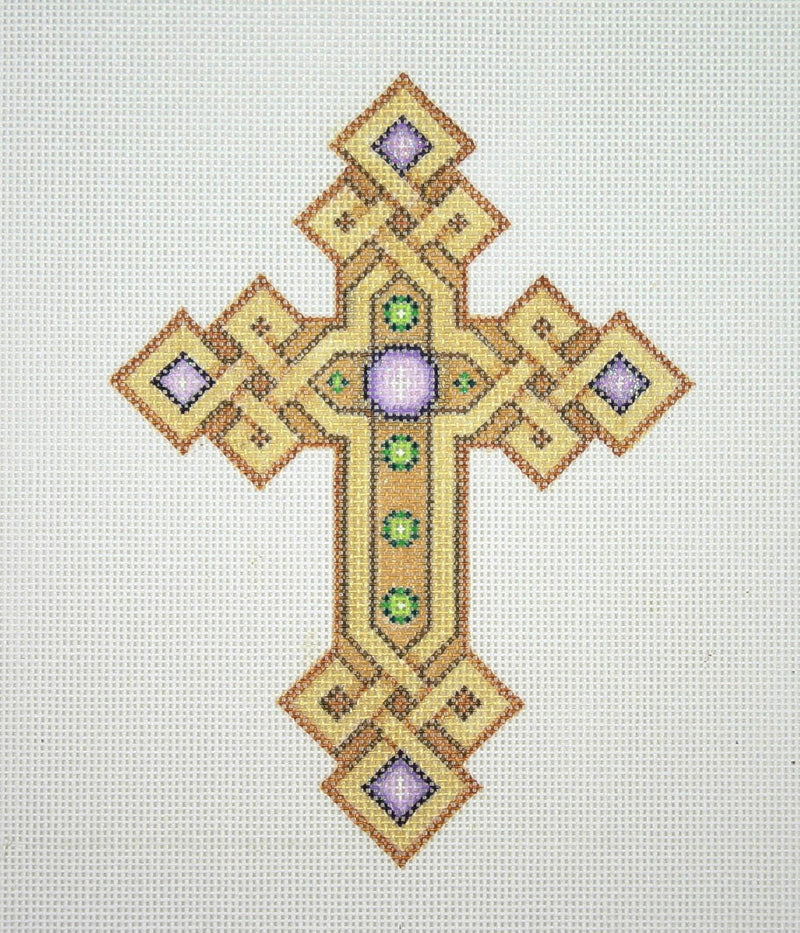 Cross / Gold & Copper / Purple & Green Jewels
