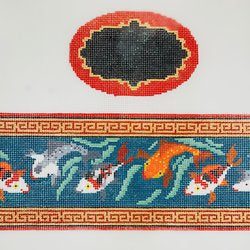 Koi Fish Oval Hinged Box w/Hardware