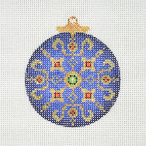 Jeweled Christmas Ball / Blue &