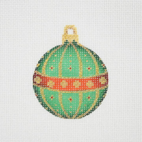 Mini Christmas Ball - Red, Green & Gold Pattern BB 3023