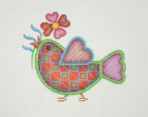 Spring Sweetie Tweetie - Red with Square Pattern BB 3081