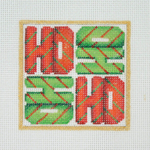Christmas Ornament / HO HO HO HO / Red & Green