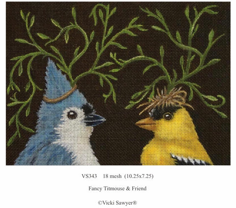 Fancy Titmouse & Friend