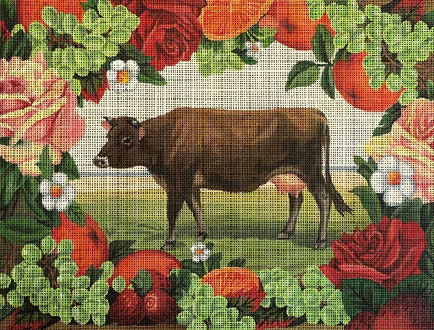Fruit & Roses Cow. J245