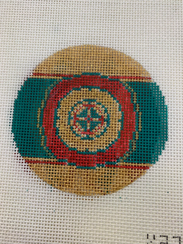 Red Green and Gold Circle