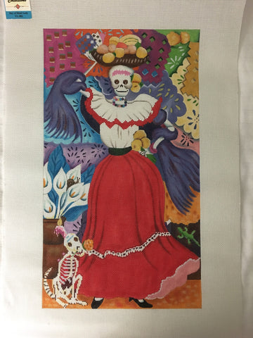 Day of the Dead Lady - BeStitched Needlepoint