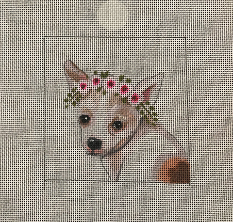 Chihuahua with Floral Crown