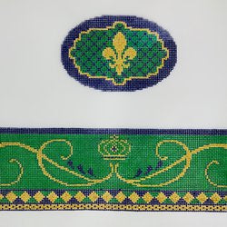 Mardi Gras Oval Hinged Box w/Hardware