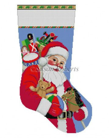 Santa Carrying Toys, stocking  195