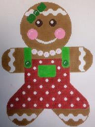 Gingerbread Girl Red & Green