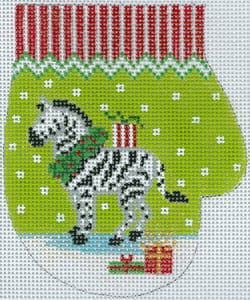 Zebra with Packages Mitten