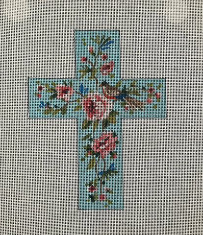 Floral with Bird Cross