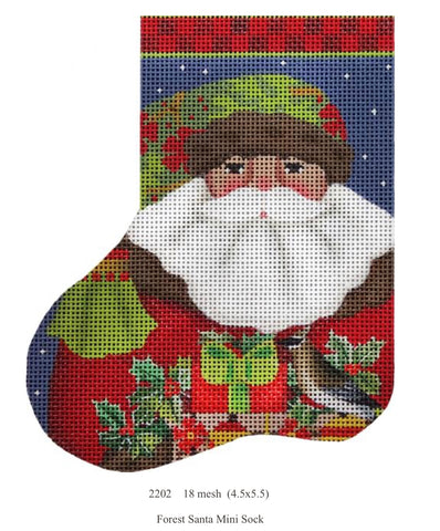 Forest Santa Mini Sock