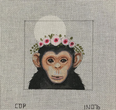 Monkey w/Floral Crown