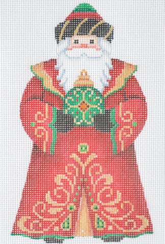 Santa Claus- Red Robe w/ Green Ornament