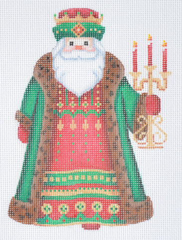 Santa Claus- Brown Robe w/ Candles