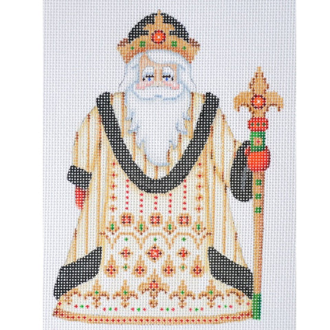 Santa Claus- Gold & Black Robe w/ Jewels
