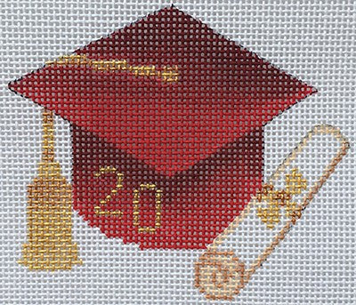 Graduation Cap- Red with Year