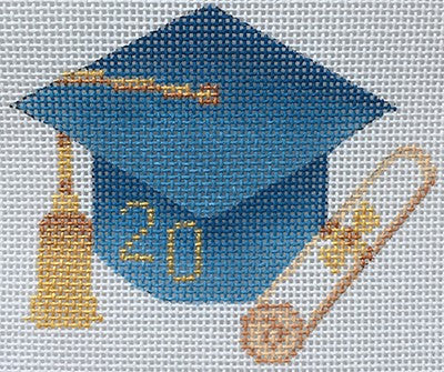 Graduation Cap- Light Blue with Year