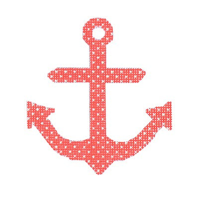 Anchors ­ Coral with Dots