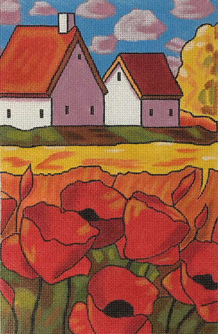 Red Poppies - BeStitched Needlepoint