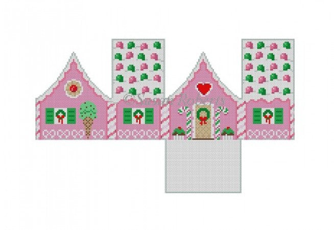 Gumdrops, Peppermint 3D gingerbread house #18
