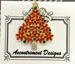 #23 Red Flower Gem Christmas Tree