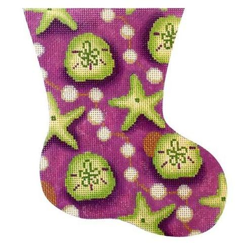 Green/Purple Starfish Mini Stocking