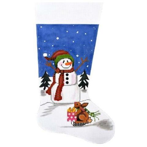 Snowman & Bunny Stocking