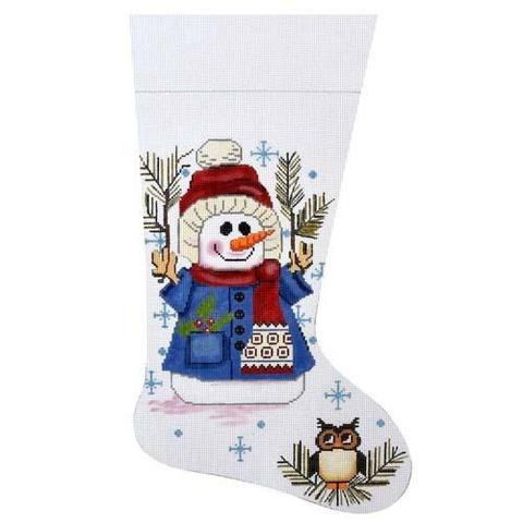 Snowman & Owl Stocking