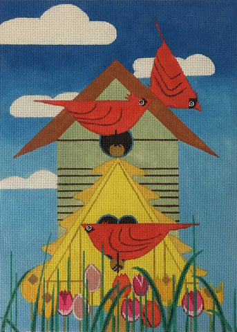 Bird Condo - BeStitched Needlepoint