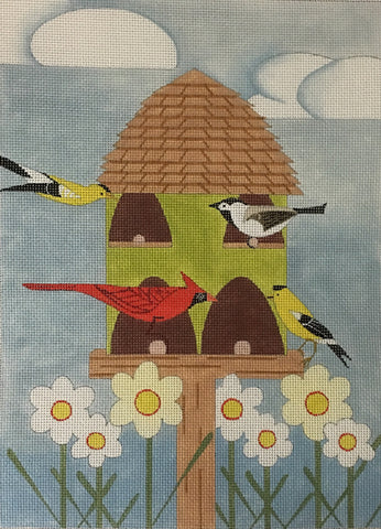 Bird Feeder - BeStitched Needlepoint