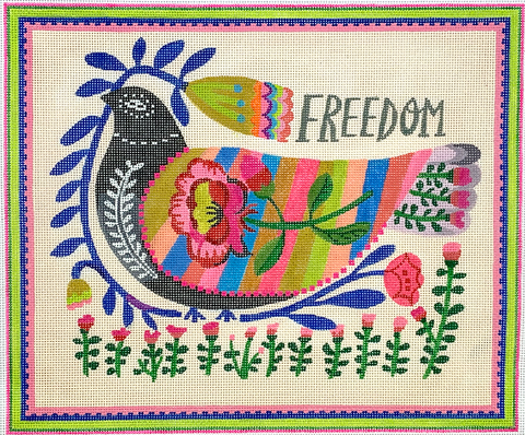Freedom Dove with Flowers-multi color
