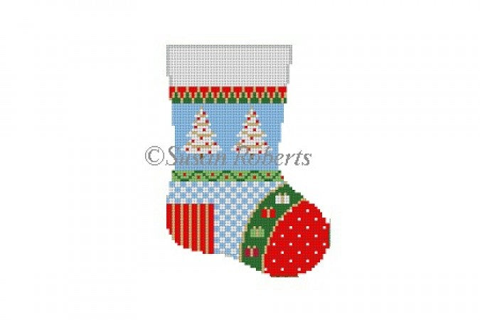 Patchwork Star, mini stocking   5454