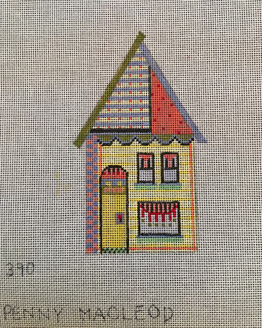 Penny Macleod:PM390 House Ornament 4x5 18M