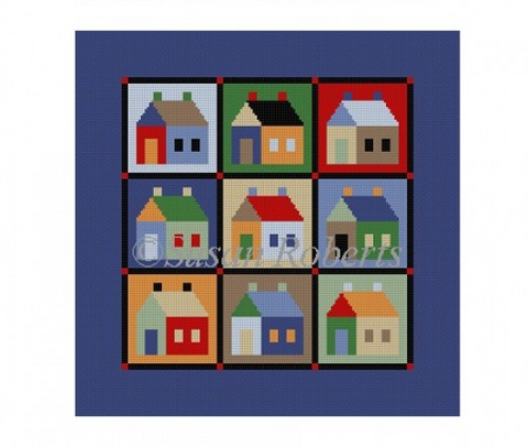 Houses, quilt 1654