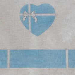 Baby Boy Heart Hinged Box with Hardware