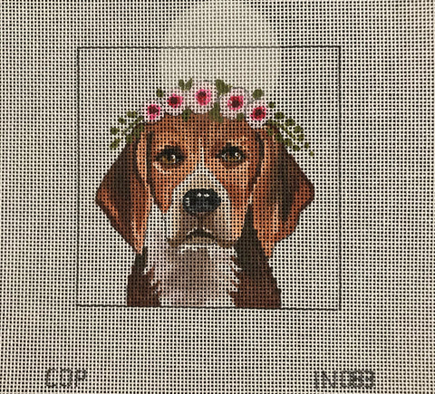 Harrier Hound with Floral Crown