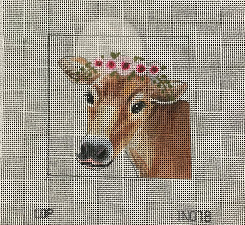 Brown Cow w/Floral Crown