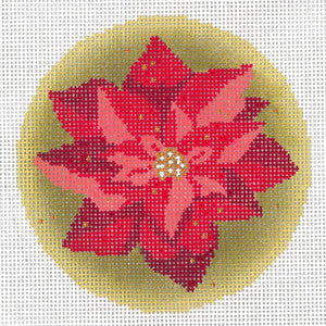 Gilded Poinsettia Ornament