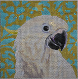 White Parrot - BeStitched Needlepoint