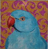 Blue Parrot - BeStitched Needlepoint