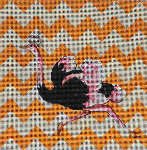Ostrich - BeStitched Needlepoint