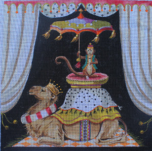 Monkey on Camel - BeStitched Needlepoint