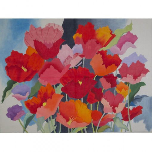 Large Watercolor Poppies