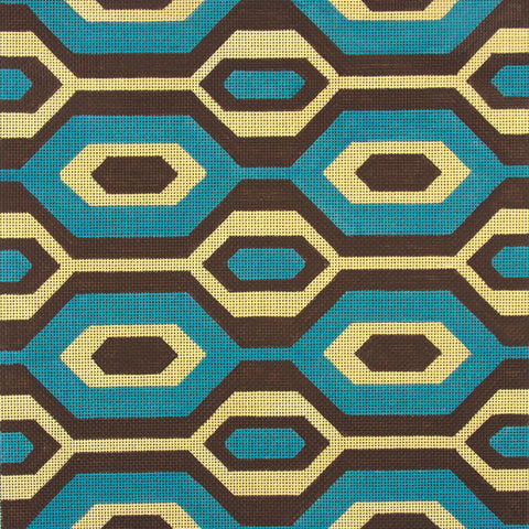 Brown & Blue Geometric