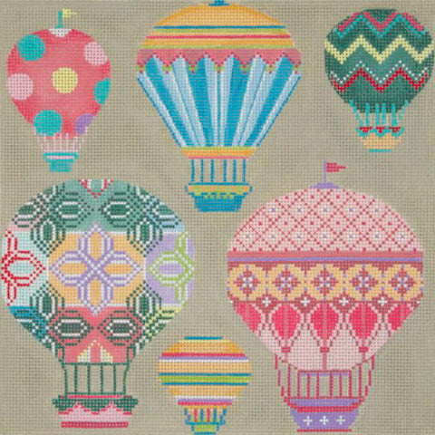 Pastel Balloons In Flight