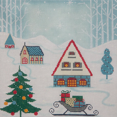 Winter Scene Pillow I