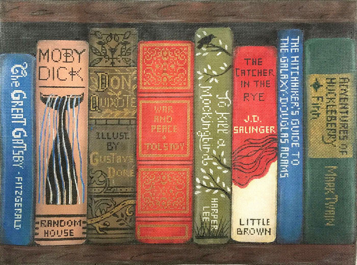 novels classic classics needlepoint peterson alice books mesh canvas flax company